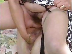 Two Grannies Take Tea And Cock