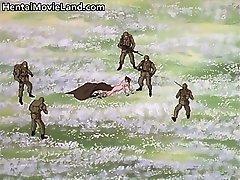Большой гадкий монстр чертовски роговые аниме часть1