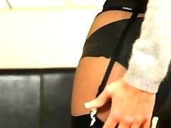 Black lingerie com ultra quente glamour