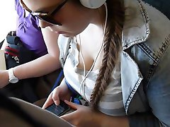 Large Breasted Girl on Train (part 2)
