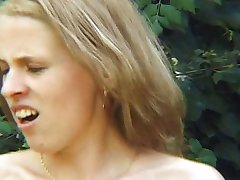 pissing and sex in the garden