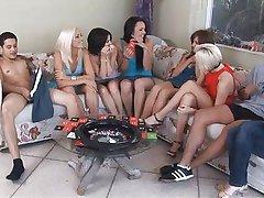 Amateurs play sex roulette