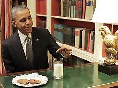 Обама мастурбирует, чтобы печенье не подобает в проруби
