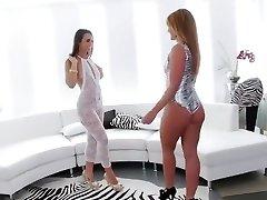 ongelooflijk rimming, brunette sex clip