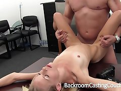 Skinny Amateur Ass Fucked and Creampie Casting