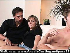 Štiri swinger spol stranko z vročo žene početje blowjob in zajebal