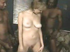 жена шлюха получает creampied на большой черный член #30.ано