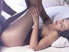 Shaved coed in insane erotic movie