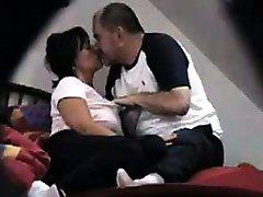 Voyeuring Housewife Olga with fuck her buddy