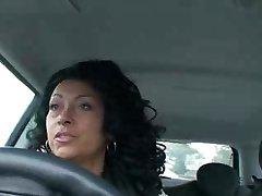 Сексуальная danica в машине