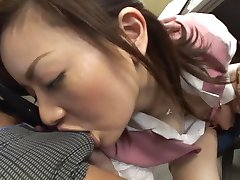 мика фукунага - japorno грубые леди получила спермой в офисе