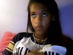 hot black teen on cam