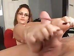 Spanish Teacher Gives FootJob