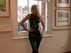 Natasha Svart Latex Dress