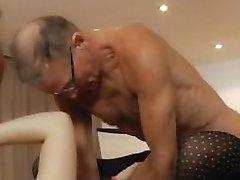 Hét nagyapák gabg frufru szexi, tini, szőke ülésén