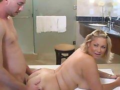 big titted bbw, blonda zeiță a futut în baie
