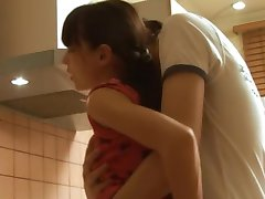 My small titted coed fucked in kitchen