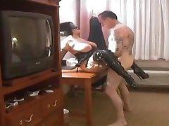 Amatør Tykk Goth Pawg Blindfolded