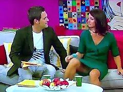 Marlene Lufen german tv host mega upskirt