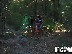 Horror porn with 2 helpless teen girls in woods