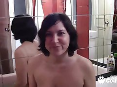 Brunette banging dick and make home video tape