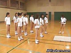 Szuper szexi Japán lány villogó part1