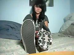 Varm emo tenåringer føtter & sokker