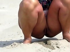 Naked on the beach in Holland
