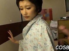 orientale frumuseti dă din cap și copulează în rare xxx cosplay