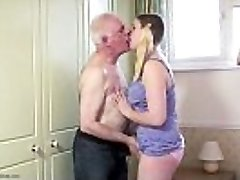 Chubby nubile muff filled with old cock