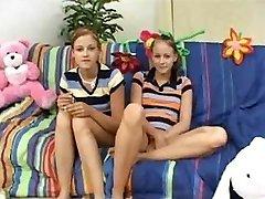 Twin Teenie Baby Sitters Earn A Bonus