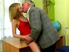 STP Skinny Schoolgirl Gets Put Right By Headmaster !