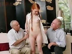 older studs with young redhair babe