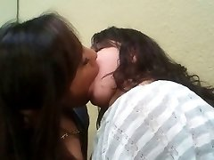 Girl-on-girl smooch - 2
