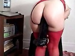 Mature Blowjob playing with toys