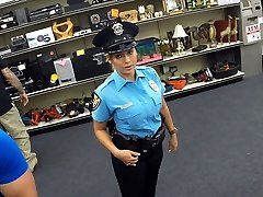 Handsome and big tits police officer gets drilled in Shawns office