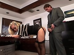Secretary pummeled in office