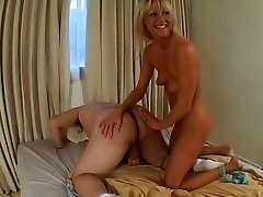 Horny Ashley blows humungous dick