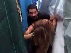 Lebanese couple cought tearing up