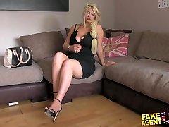 FakeAgentUK Blonde wannabe enjoys sucking and boinking