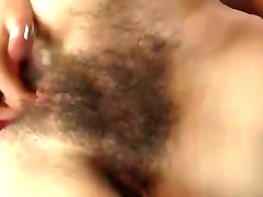 hairy pit maid fingers her hairy pussy to orgasm