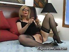 Blondinė mama akiniai lyžis sunku part2