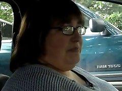 BBW Kézimunka #9 a Kocsiban, Nős Alattomos Érett Felesége