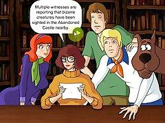 Sex spel Scooby Doo flickor knullar och få täckt med cum