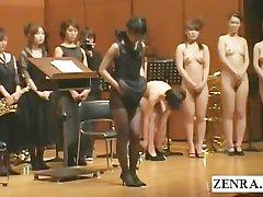 Japanische splitternackt Orchester beginnt mit striptease