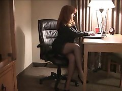Buxom amateur in glasses and stockings takes BBC.