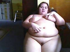 Fat Horny BBW Ex Girlfriend playing on Webcam