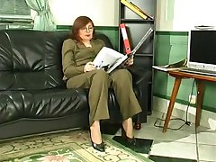Russian mom in stockings