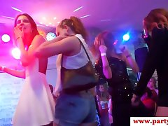 Busty euro babe sprayed cumontits at party
