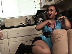 RealBlackExposed  Naughty Babysitter Trying to Save Her Job